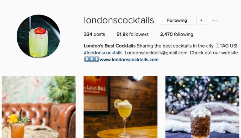 LondonsCocktails Instagram